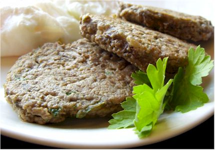 Mushroom-Parsley Patties