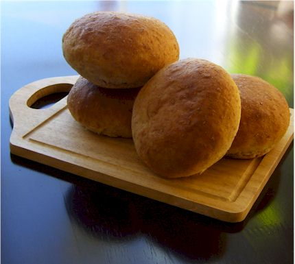 No Rise Wheat Hamburger Buns