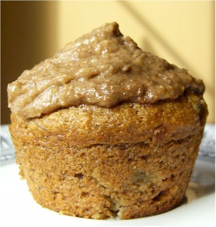 banana-nut frosted banana muffins