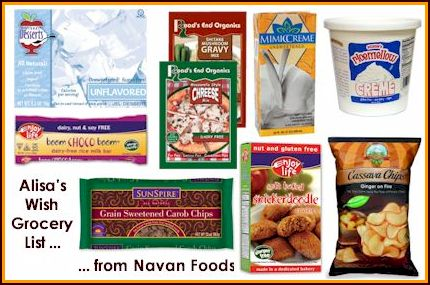 Alisa's Navan Foods Wish List
