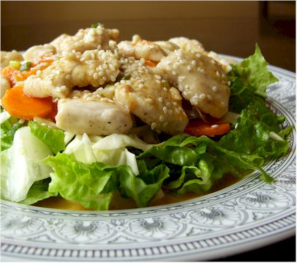 Dairy-free orange sesame chicken salad
