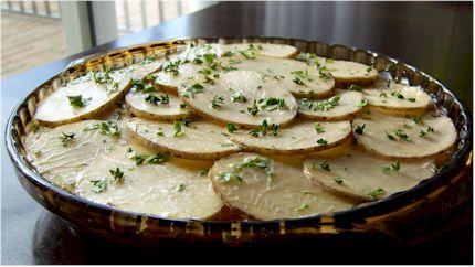 rustic potato gratin uncooked