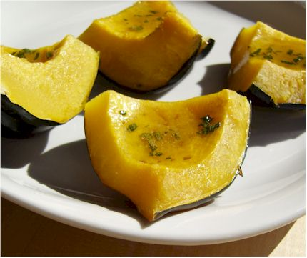 Acorn Squash with a Sweet Sage Butter