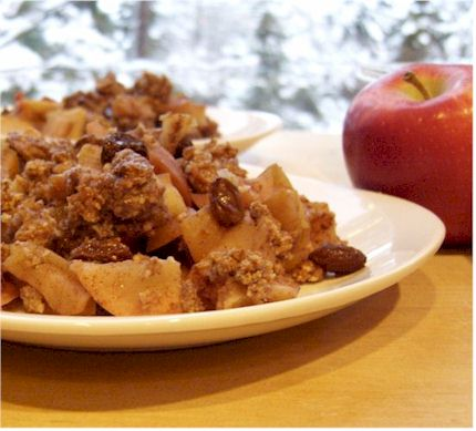 Grain-Free, Dairy-Free Almond Apple Crumble