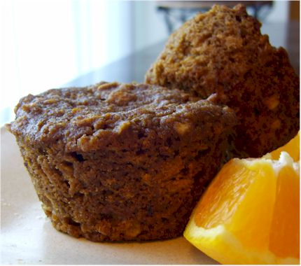 orange-oat muffins from sweet freedom