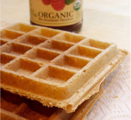 Vegan Peanut Butter Oatmeal Blender Waffles