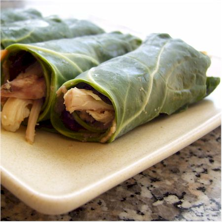 Collard Greens and Hummus Mini-Wraps
