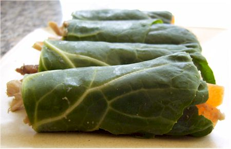 Collard Greens and Hummus Mini-Wraps