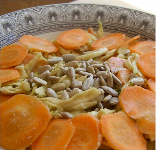 asian sunflower seed slaw