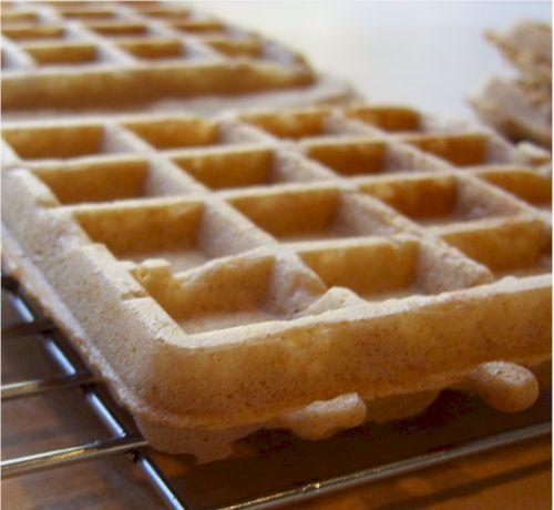 whole wheat vegan waffles