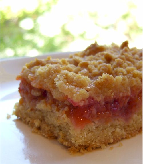 apricot-raspberry crumble bars