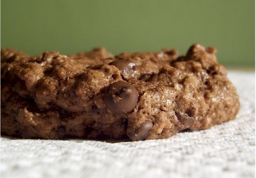 choc explosion oat cookies