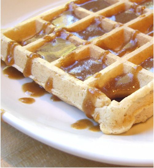 ... Freezer Waffles with Nutty Maple Syrup for a Virtuous Breakfast
