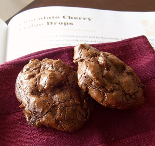 Chocolate Cherry Fudge Cookies - Gluten-Free and Dairy-Free