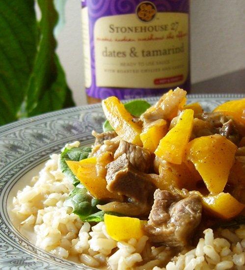 Stonehouse 57 Tamarind & Dates Sauce over Lundberg Brown Rice