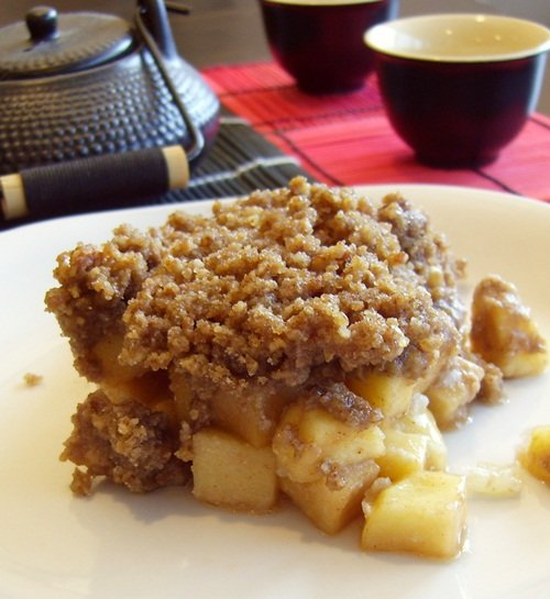 Gluten-Free, Vegan, Soy-Free Maple Pecan Apple Crisp