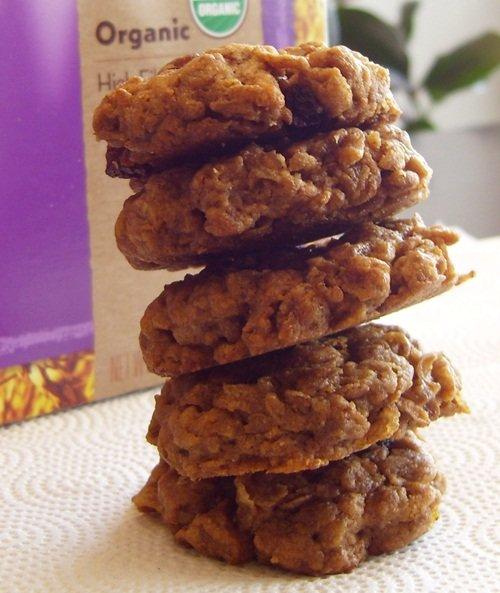 Peanut Butter 'n Honey Raisin Bran Cookies - Dairy-Free