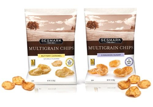 Sesmark All-Natural and Light Multi-Grain Chips - Garlic & Herbs