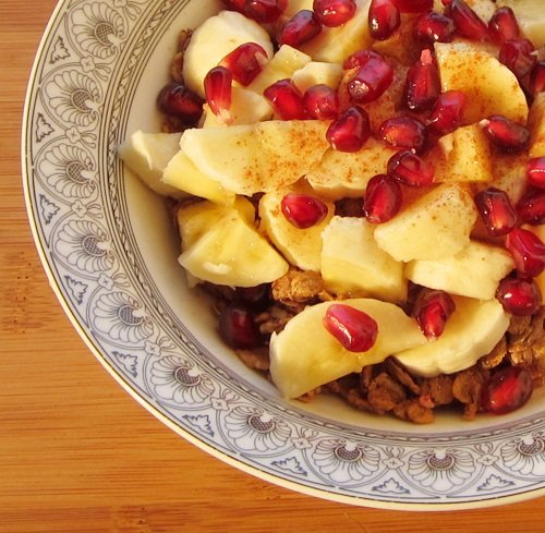 Uncle Sam Whole Grain Breakfast Cereal with Bananas and Pomegranate