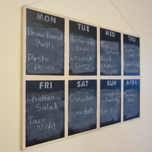 Alisa's Menu Planning Board
